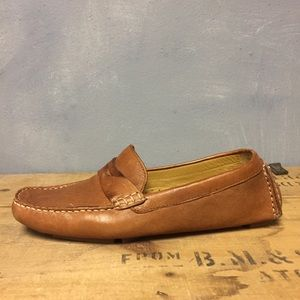 Cole Haan Driving Loafers 9 Leather Brown Shoes